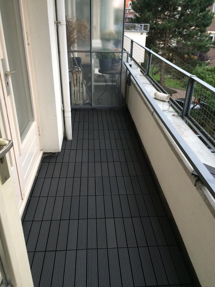 Populair Rubberen balkon bedekking gelegd - Jamo vastgoed service TA76