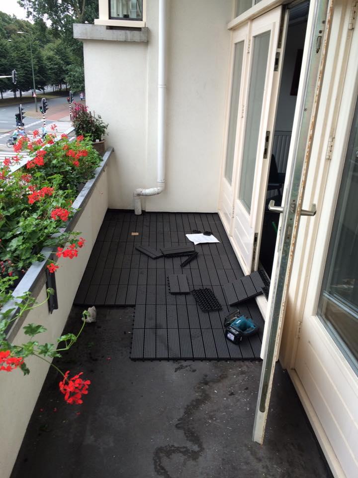 Bekend Rubberen balkon bedekking gelegd - Jamo vastgoed service TS25